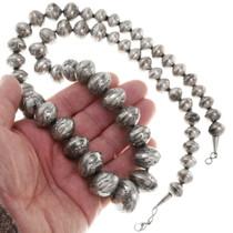 Vintage Silver Bench Bead Necklace 40081