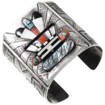 Vintage Navajo Kachina Cuff Bracelet 40085