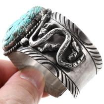Sterling Silver Snake Design Turquoise Bracelet 40095
