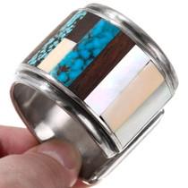Turquoise Ironwood Inlay Native American Bracelet 40102