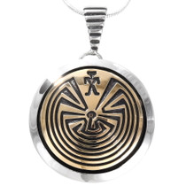 Navajo Man in the Maze Pendant 40111