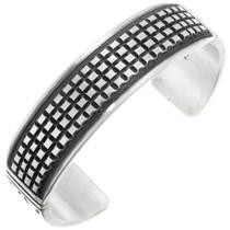 Navajo Sterling Silver Cuff Bracelet 40117