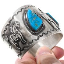 Vintage Gemmy Candelaria Turquoise Bracelet 40118