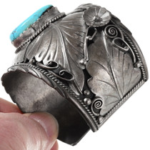 Natural Sleeping Beauty Turquoise Native American Cuff Bracelet 40132