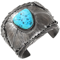Vintage Navajo Turquoise Sterling Silver Cuff Bracelet 40132