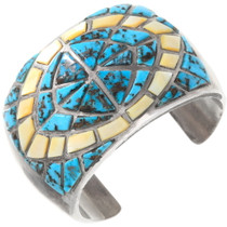 Old Pawn Turquoise Shell Cuff Bracelet 40133
