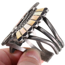 Sterling Silver Shell Inlay Zuni Bracelet 40151
