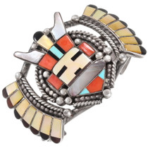 Vintage Zuni Inlay Kachina Bracelet 40151