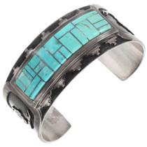 Vintage Turquoise Sterling Silver Bracelet 40153