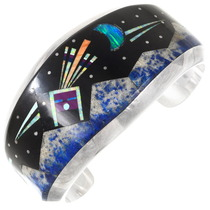 Vintage Night Sky Inlay Navajo Bracelet 40155
