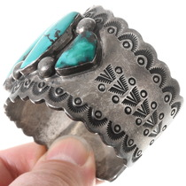 Native American Vintage Turquoise Silver Bracelet 40162