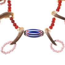 Bear Claw Chevron Bead Navajo Necklace 40171