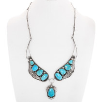 Natural Arizona Turquoise Necklace 40175