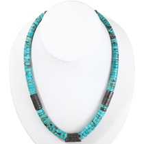 Native American Turquoise Heishi Necklace 40176