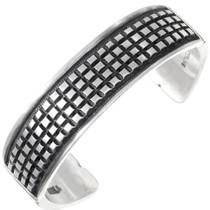 Sterling Silver Navajo Cuff Bracelet 40183