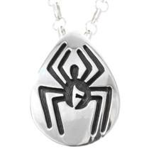 Native American Silver Spider Pendant 40205