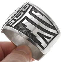 Native American Silver Overlay Kachina Bracelet 40211