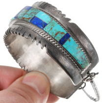 Native American Inlay Turquoise Lapis Bracelet 40213