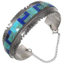 Vintage Sterling Silver Turquoise Lapis Lazuli Bracelet 40213