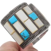 Vintage Zuni Sterling Silver Turquoise Bracelet 40216