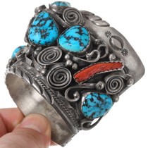 Sleeping Beauty Turquoise Bear Claw Bracelet 40217