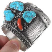 Natural Sleeping Beauty Turquoise Nugget Bracelet 40218