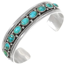 Natural Carico Lake Turquoise Bracelet 40224
