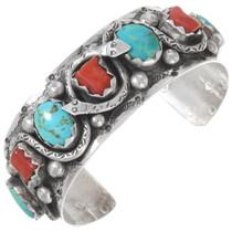 Old Pawn Zuni Turquoise Snake Bracelet