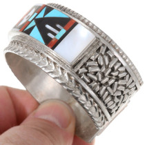 Native American Turquoise Zuni Inlay Bracelet  40229