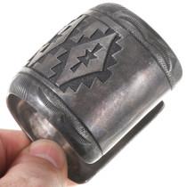 Navajo Heartline Bear Symbol Sterling Silver Bracelet 40231