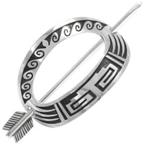 Native American Sterling Silver Hair Stick Barrette 40202