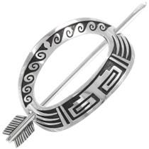 Native American Sterling Silver Hair Stick Barrette 40202