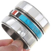 Native American Turquoise Inlay Bracelet 40250