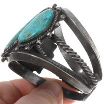 High Grade Vintage Turquoise Sterling Silver Cuff Bracelet 40255