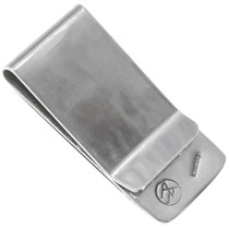Silver Native American Kokopelli Symbol Money Clip 40256