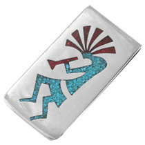 Turquoise Kokopelli Money Clip 40256