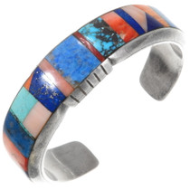 Multi Gemstone Inlay Native American Bracelet 40265