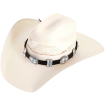 Turquoise Silver Concho Hatband 40267