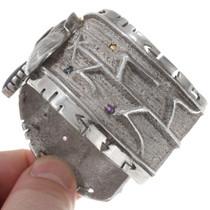 Vintage Native American Sterling Silver Corn Bracelet  40270