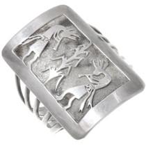 Vintage Sterling Silver Kokopelli Cuff Bracelet 40278