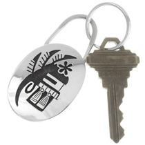 Silver Kachina Silver Key Ring 40281