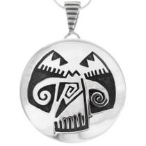 Native American Pueblo Silver Bird Pendant 40284