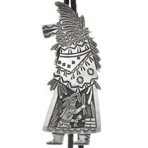Sterling Silver Floyd Becenti Kachina Bolo Tie 40290