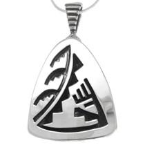 Native American Symbol Sterling Silver Pendant 40301