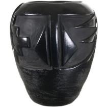 Deeply Etched Black Santa Clara Pottery 40310