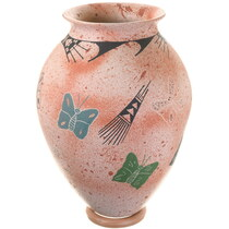 Large Mata Ortiz Speckled Butterfly Pottery 40316