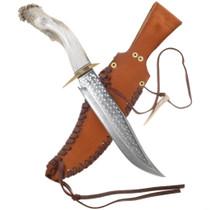 Vintage Bowie Knife Antler Handle 40317