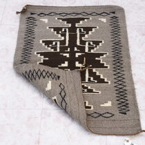 Tightly Woven Natural Wool Navajo Rug 40320