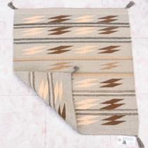 Vintage 1960s Hand Woven Wool Navajo Rug 40322