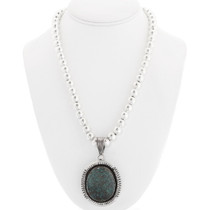 Sterling Silver Navajo Turquoise Pendant 40323